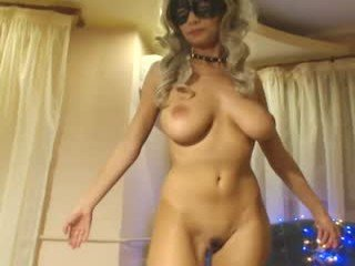 dianne99 german blonde cam girl gets her bald pussy filled with a huge boner