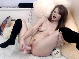 fiery_redhead cam girl strong fucked in the pink ass