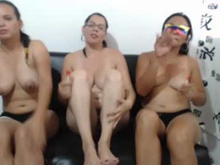 myanfriends spanish cam girl takes on two guys in the sexy double penetration