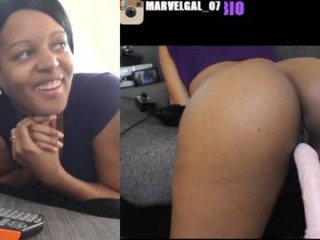 marvelgal ohmibod ass domination with slave cam girl