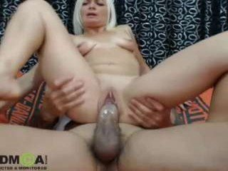 gladiator36 blonde cam girl enjoys rough anal live sex with ohmibod
