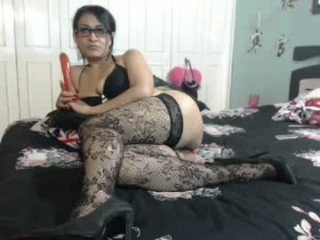 pornduo cam girl uses two sex toys to please her sweet ass