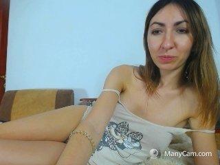 sweetynastya brunette cam girl welcomes favorite ohmibod into her ass